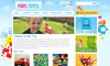 Download website template Kids Toys - PSD Template