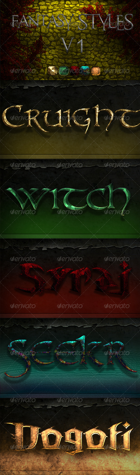 Fantasy Styles - Text Effects Actions