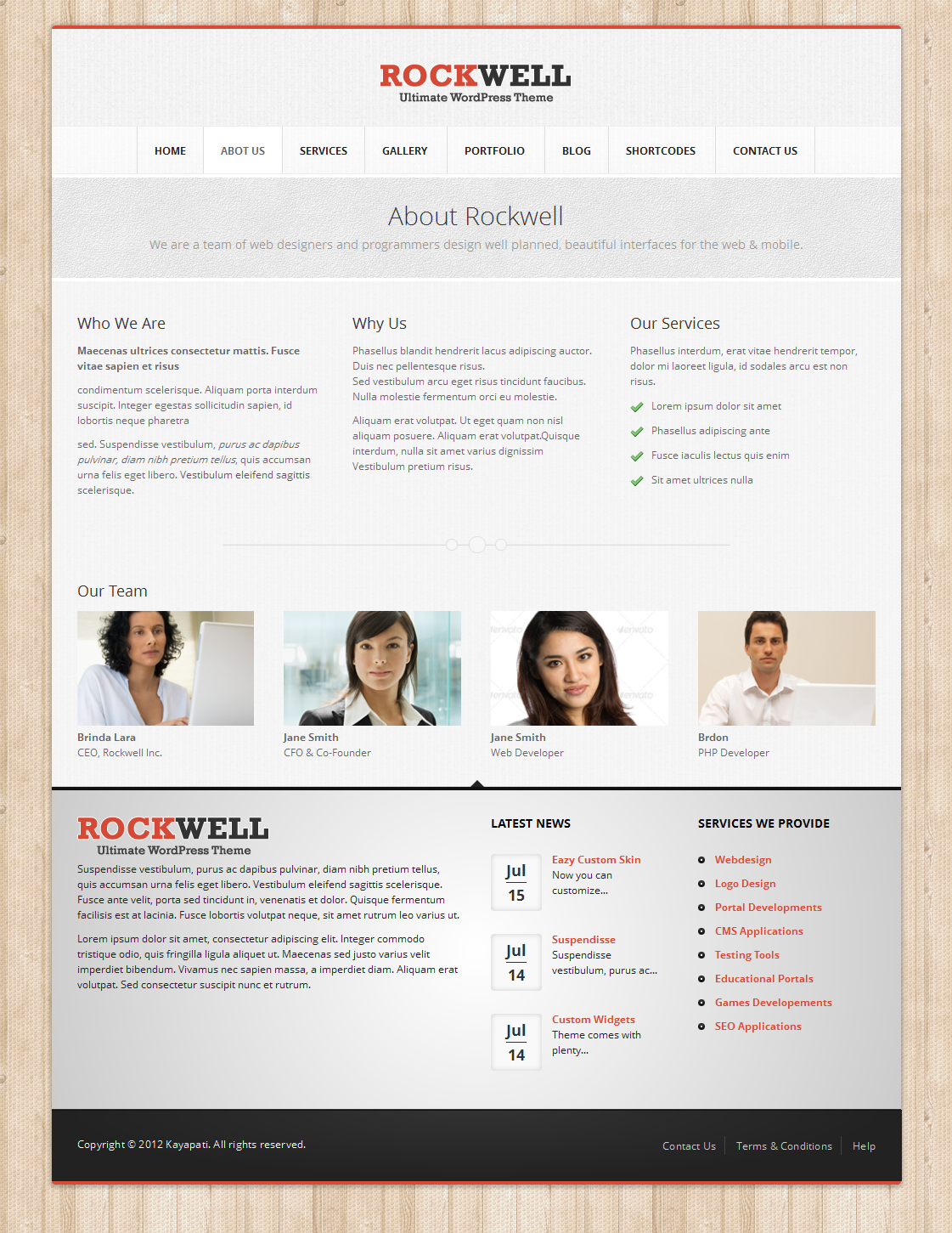 Rockwell - Fully Responsive WordPress CMS Theme 