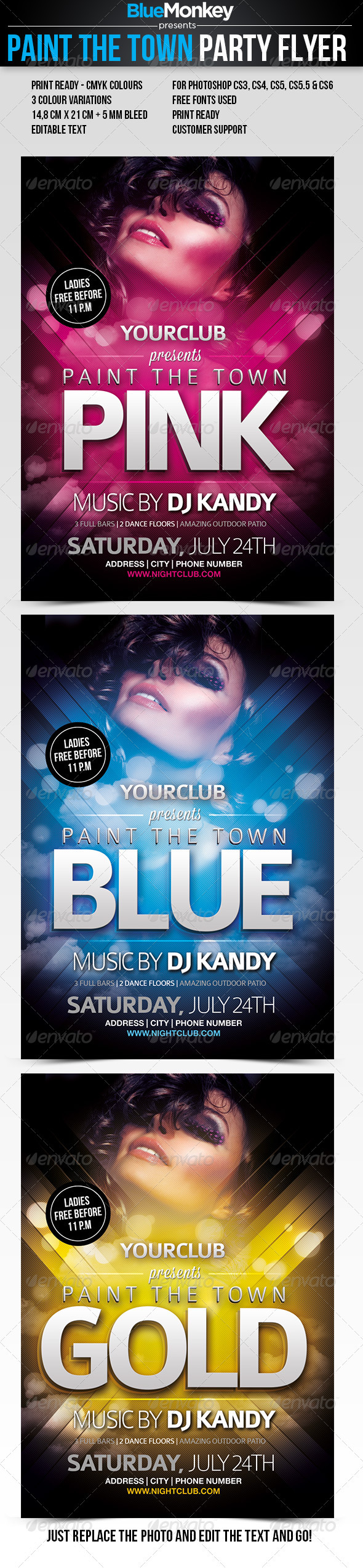 Paint The Town Party Flyer - Clubs & Parties Events