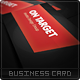 On Target Business Card - GraphicRiver Item for Sale