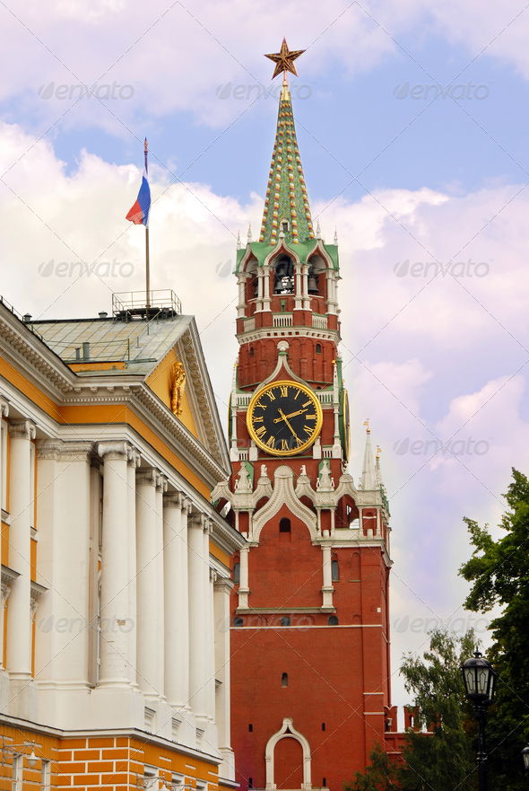 Kremlin tower in Moscow - Stock Photo - Images