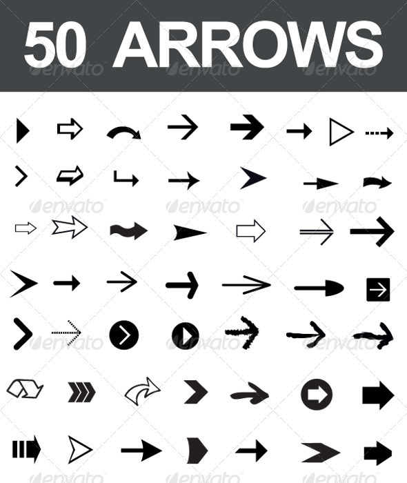 50 Arrows - Decorative Symbols Decorative