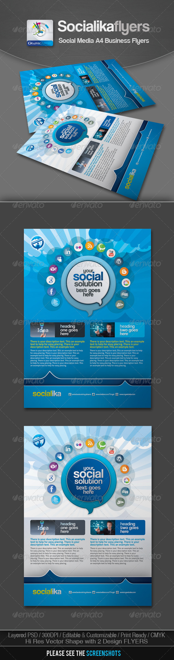 GraphicRiver Socialika Social Media Business Flyers 2687564