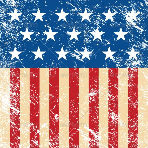 american flag vintage vector - photo #10