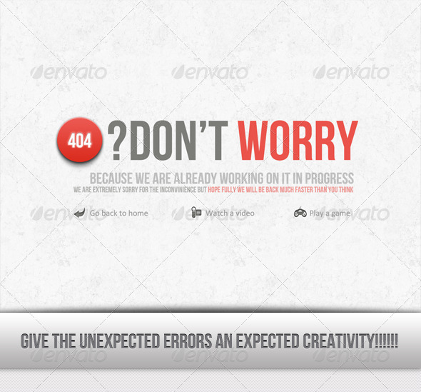 Error? Don't worry.. buy this - 404 Pages Web Elements