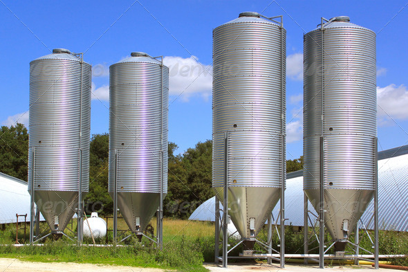 grain silos - Stock Photo - Images