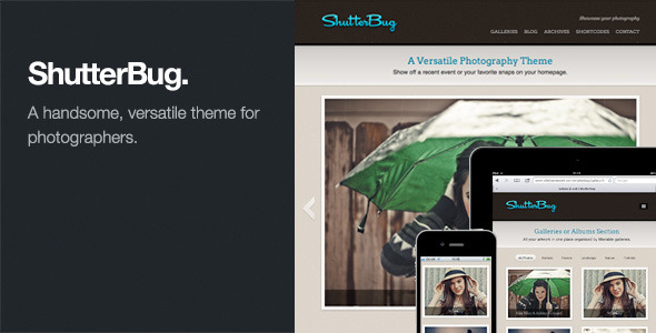 ShutterBug - Tema Responsive para Fotógrafos en WordPress