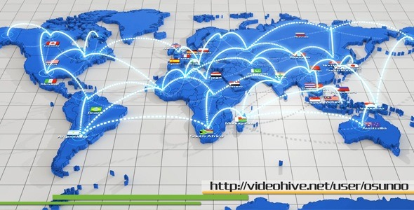 VideoHive World Network Connection 2687896
