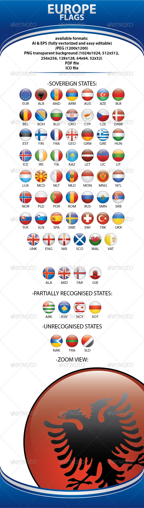 GraphicRiver European Flags Vector 83355
