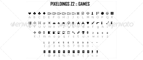 PIXELDINGS_Z2 :: games - Ding-bats Fonts