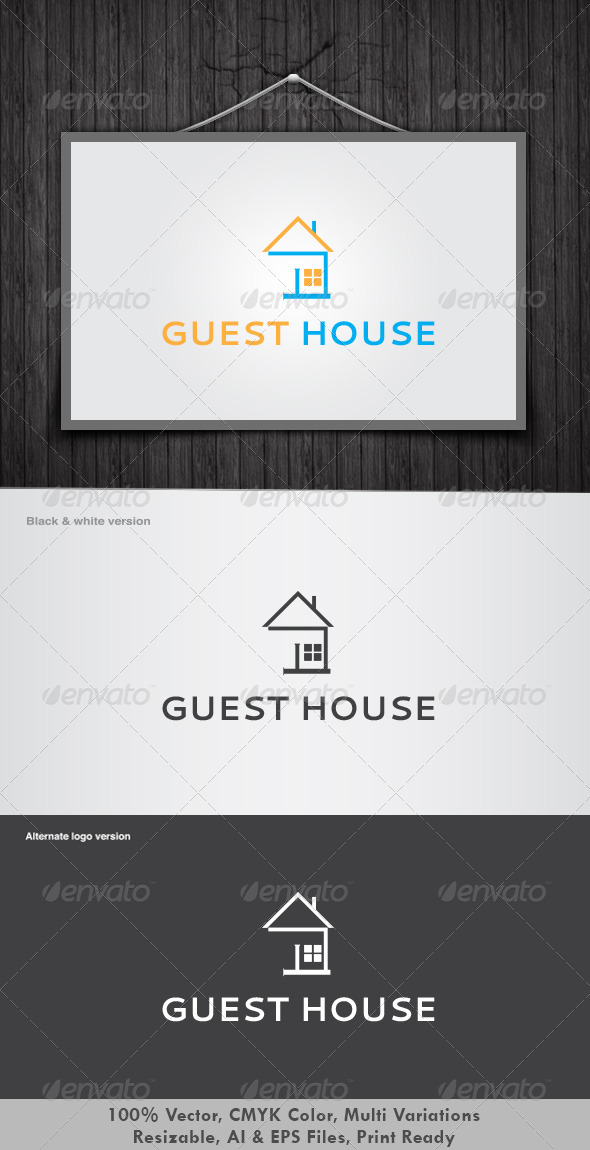 Guest House Logo - Buildings Logo Templates
