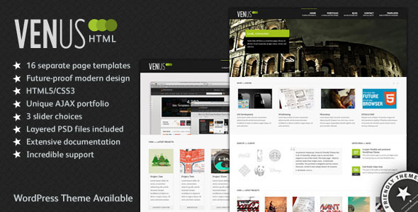 Venus: Business & Portfolio HTML Theme