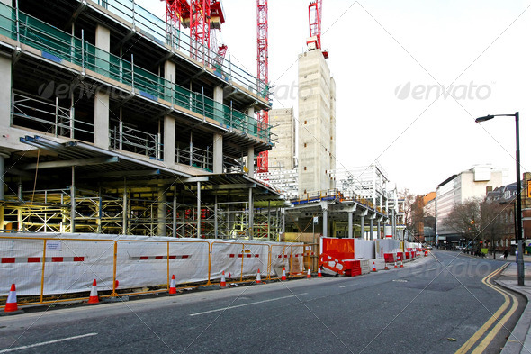 Construction street - Stock Photo - Images