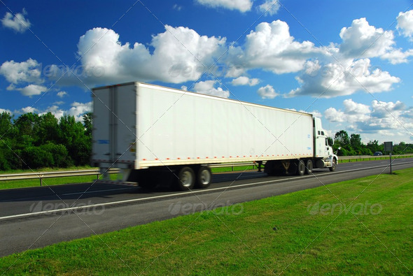 Stock Photo - PhotoDune Fast Moving Truck 183958