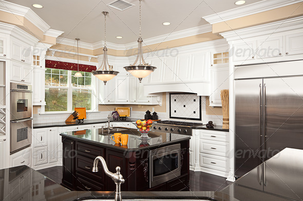 PhotoDune Beautiful Custom Kitchen Interior 297515