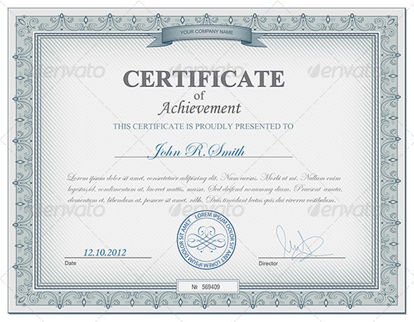 Detailed certificate  - Retro Technology