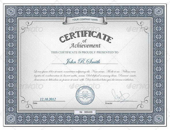 GraphicRiver Detailed certificate 2691891