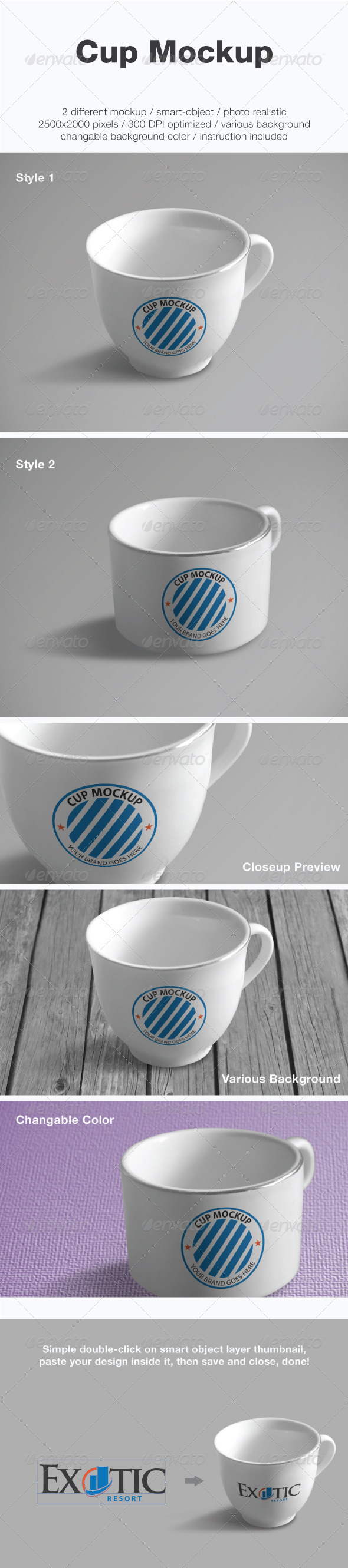 Cup Mockup - Food and Drink Packaging