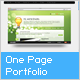 One Page Portfolio - ActiveDen Item for Sale