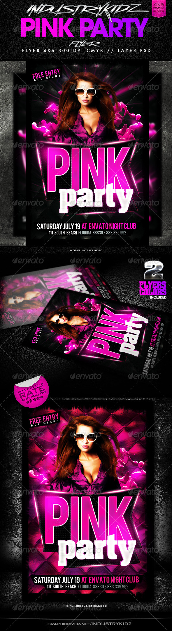 Pink Party Flyer  - Events Flyers