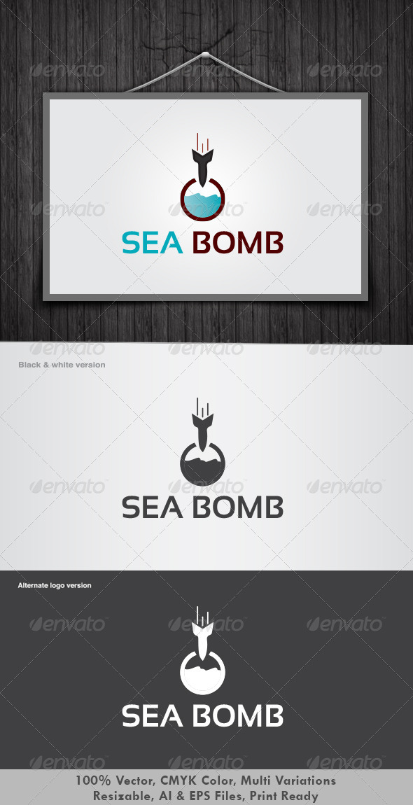 Sea Bomb Logo - Nature Logo Templates