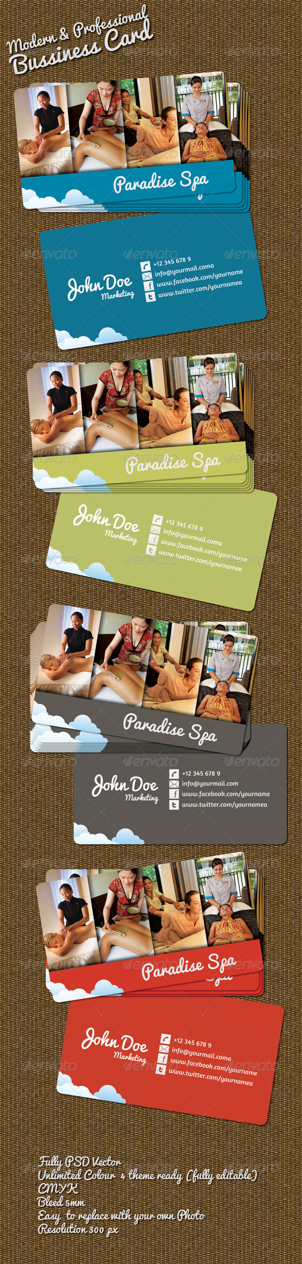 Beauty Spa Bussiness Card - Industry Specific Business Cards