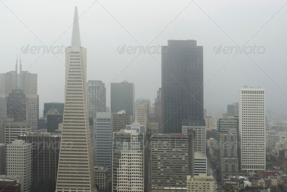 San Francisco Fog - Stock Photo - Images