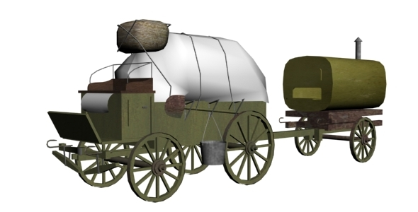 World War I Wagon - 3DOcean Item for Sale