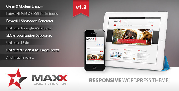 ThemeForest Maxx Responsive Creative Wordpress Theme 2488296