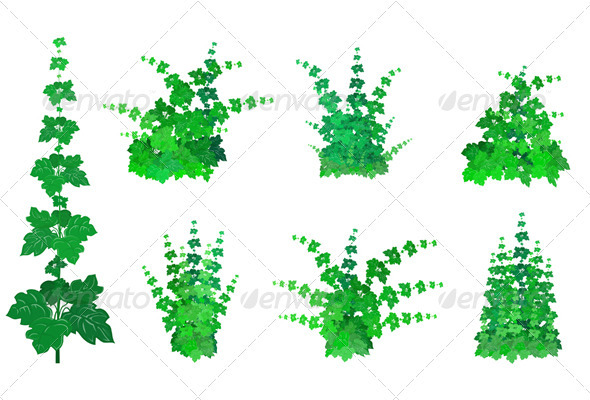 Set of Bushes - Miscellaneous Brushes