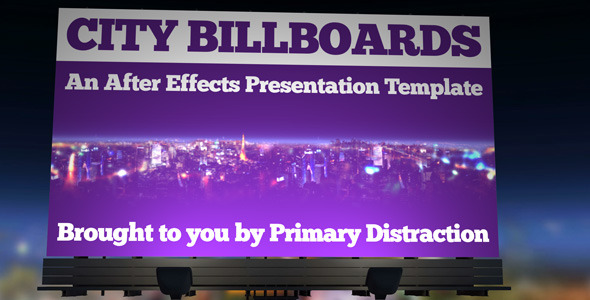 After Effects Project - VideoHive City Billboards 2623042