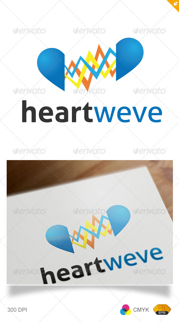 GraphicRiver Heart Wave Logo 2699300