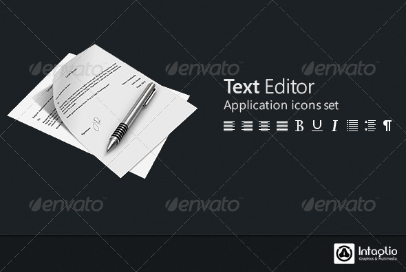 Text Editor Icon Set GraphicRiver - Icons -  Software 2700087