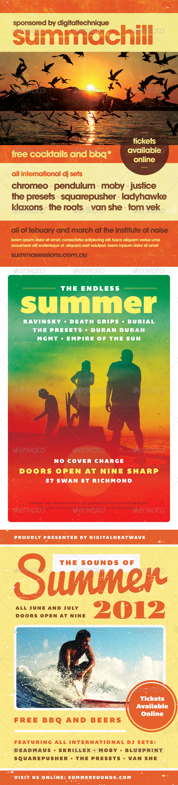 Summer Flyer Bundle - Volume One - Events Flyers