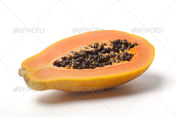 Half papaya fruit - Stock Photo - Images