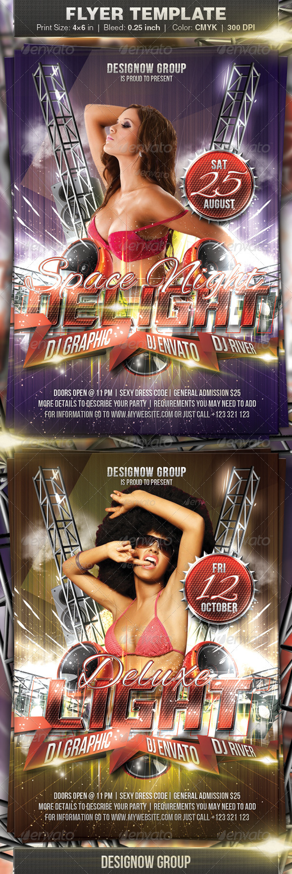 Space Night Delight Flyer - Clubs & Parties Events