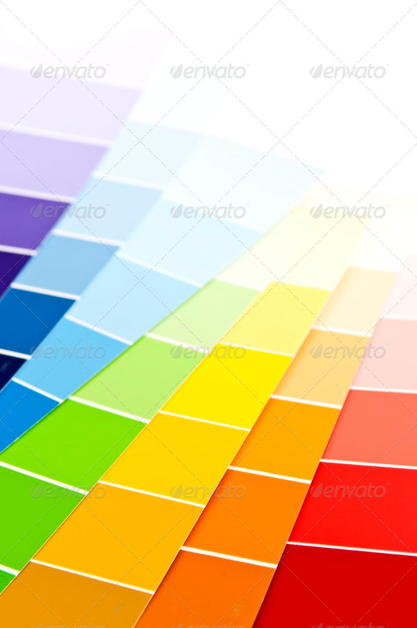 Color Card Paint Samples - Stock Photo - Images