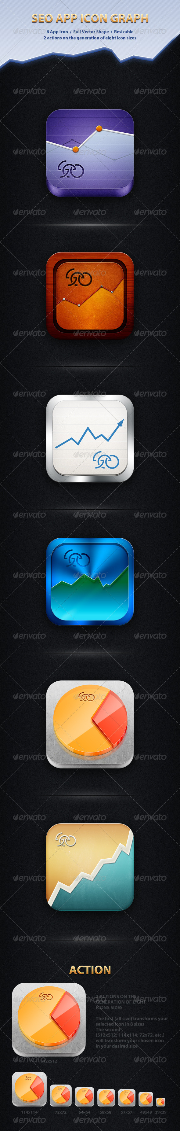SEO App Icon Graph GraphicRiver - Icons -  Software 2702749