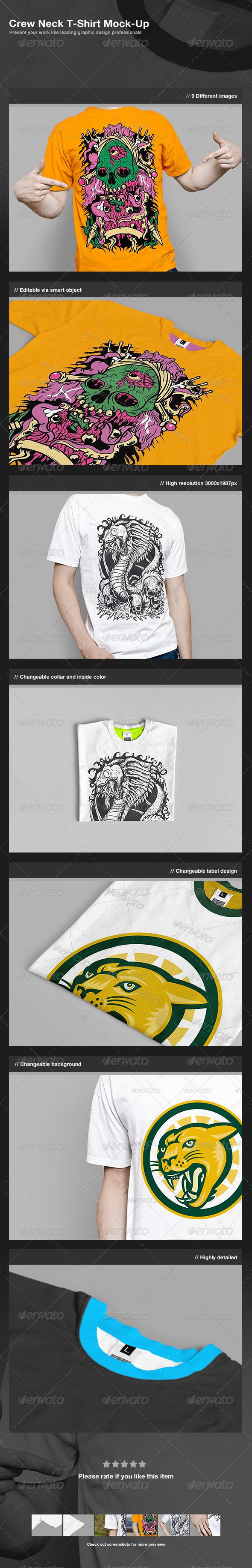 GraphicRiver Crew Neck T-Shirt Mock-Up 2703181
