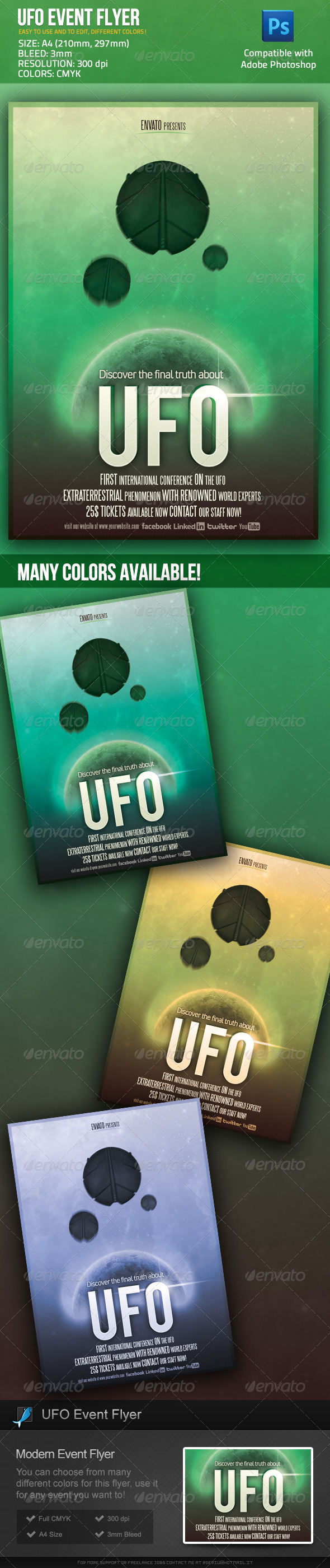 GraphicRiver UFO Event Sci Fi Movie Poster Flyer 2703524