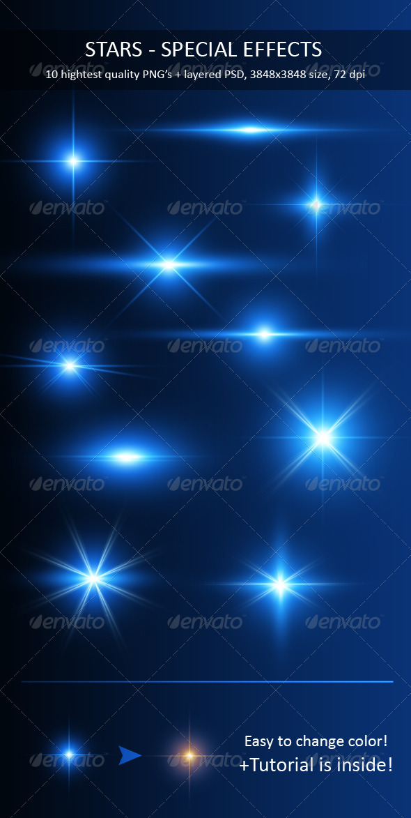 Stars - Special Effects Pack - Decorative Graphics