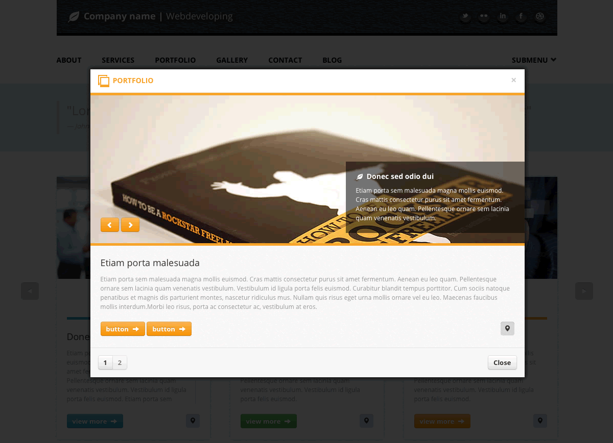 Castore - Multipurpose Single Page HTML Theme