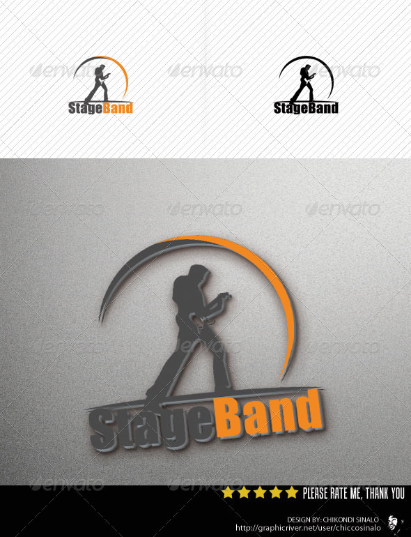 Stage Band Logo Template - Abstract Logo Templates