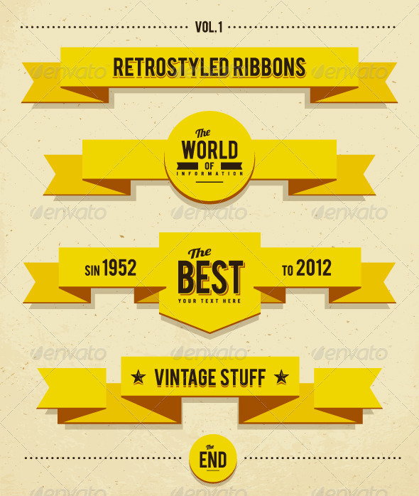 Retro syled ribbons - Retro Technology