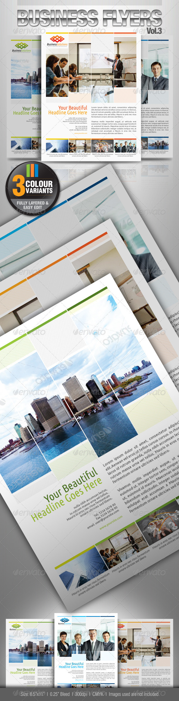 GraphicRiver Simple & Clean Corporate Flyer Vol.4 2667266