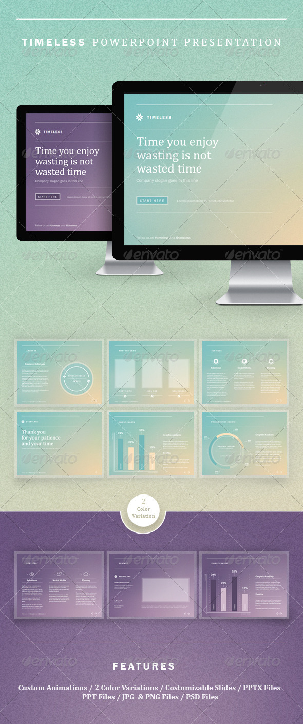 GraphicRiver Timeless Powerpoint Presentation 2641701