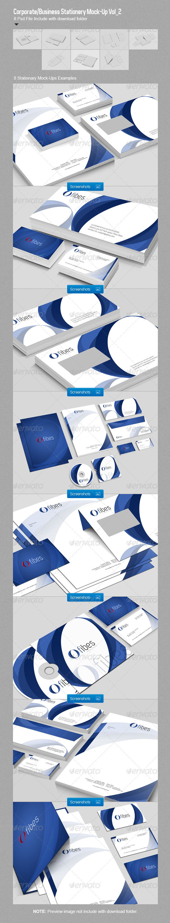GraphicRiver Corporate Business Stationery Mock-Up Vol 2 2688207