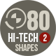 80 Photoshop Hi-Tech Shapes 2 - GraphicRiver Item for Sale