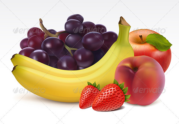Ripe fresh fruits  - Food Objects